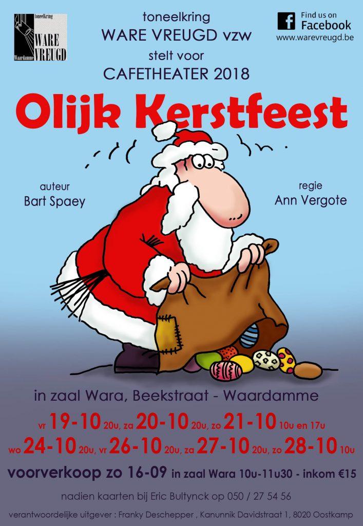 Affiche olijk kerstfeest